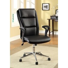Ravi High-Back Leatherette Executive Chair with Arms
