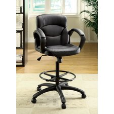 Ebony Mid-Back Leatherette Conference Chair with Arms