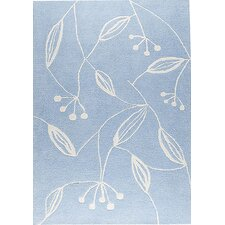 Mat The Basics Blossom Blue Area Rug