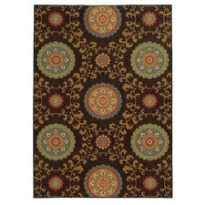 Clarissa Floral Brown/Multi Area Rug