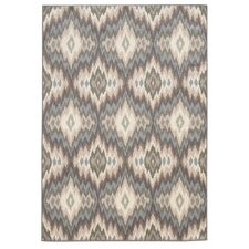 Concord Ikat Ivory/Blue Area Rug