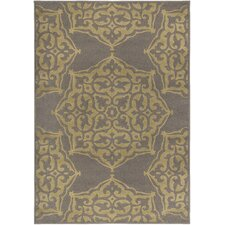 Kenya Fretwork Grey/Green Area Rug