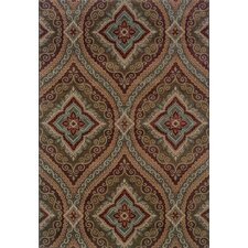 Tara Updated Traditional Green/Plum Area Rug