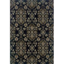 Tara Floral Navy/Gray Area Rug