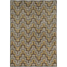 Jensen Geometric Grey/Gold Area Rug