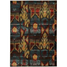 Agave Tribal Grey/Blue Area Rug