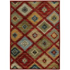 Agave Southwest Tribal Red & Multi Area Rug