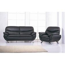 Jonus Leather Sofa and Chair Set