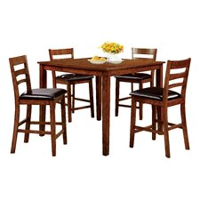 Spencer 5 Piece Counter Height Pub Dining Set