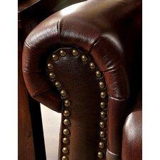 Rigo Transitional Leather Arm Chair