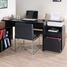 Concept 2 Piece Modular Computer Desk with Bookcase