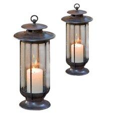 1 Light Outdoor Hanging Lantern (Set of 2)
