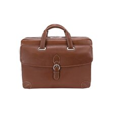 Vernazza Borella Leather Laptop Briefcase