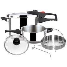 Practika Plus 6 Piece Stainless Steel Pressure Cooker Set