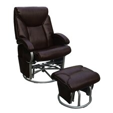 Push Back Recliner and Ottoman