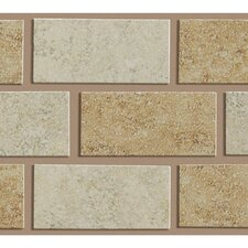 "Palmetto 10"" x 3"" Wall Listello in Multi"