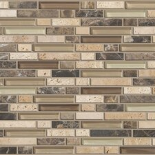 Mixed Up Random Sized Natural Stone Mosaic Tile in River Bed