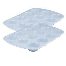 Cerama Bake 12 Cup Muffin Pan (Set of 2)