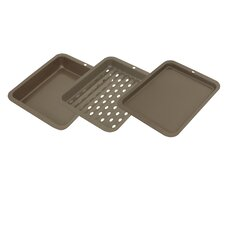 3 Piece Toaster Oven Bakeware Set