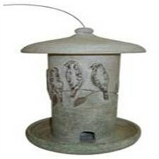 Perched Hand Painted Bird Feeder