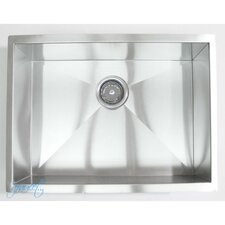 "23"" x 18"" Single Bowl Undermount Kitchen Sink"