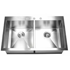 "36"" x 22"" Double Bowl Kitchen Sink"