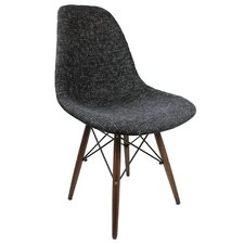 Mid Century Modern Woven Fabric Upholstered Side Chair