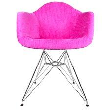 Velvet Fabric Arm Chair with Steel Legs