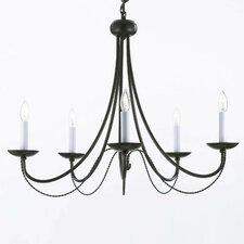 Versailles 5 Light Candle Chandelier