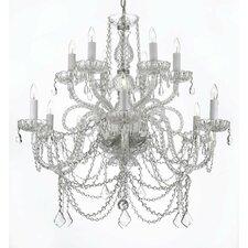 12 Light Swarovski Crystal Chandelier