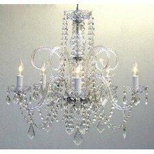 5 Light Swarovski Crystal Chandelier