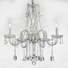 Royal 5 Light Swarovski Crystal Chandelier