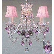 4 Light Swarovski Crystal Chandelier