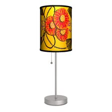 "Decor Art Tassels and Flowers 20"" H Table Lamp with Drum Shade"