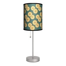 "Decor Art Small Flowers 20"" H Table Lamp with Drum Shade"