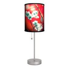 """Decor Art Cherry Blossom 20"""" H Table Lamp with Drum Shade"""