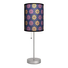 "Decor Art Flower 20"" H Table Lamp with Drum Shade"