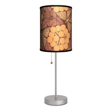 "Decor Art Dragonfly Leaves 20"" H Table Lamp with Drum Shade"