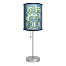 "Life Goes On 20"" H Table Lamp with Drum Shade"