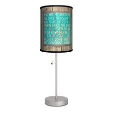 """Sunshine Love Song 20"""" H Table Lamp with Drum Shade"""