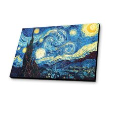 Starry Night 1889 by Van Gogh Painting Print