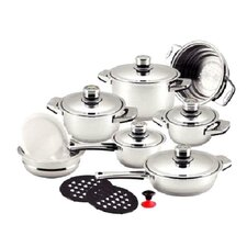 Dr. Cook 17-Piece Stainless Steel Capsule Base Cookware Set
