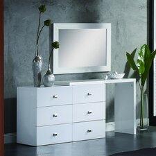 Scarlet 6 Drawer Dresser with Mirror