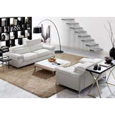 Sydney Leather Sofa and Loveseat Set