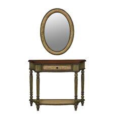 Veneto Console Table and Mirror Set