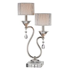 "Double Lamp 23.5"" H with Rectangular Shade"