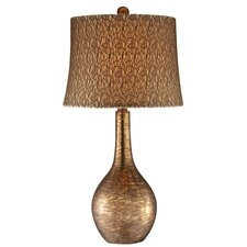 Table Lamp in Metallic Copper and Brown