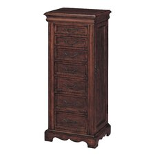Chesterfield Poplar and Birch Veneers Jewelry Armoire