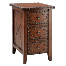 Wood Trends Southwest Inspired 3 Drawer Chairside Chest