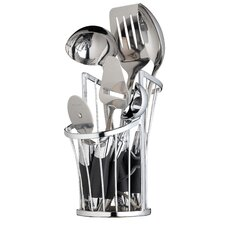 Wireless Chrome Deluxe Utensil Holder